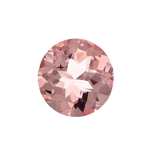 2.35ct 9mm Natural Round Brilliant Cut Morganite Loose Gemstones