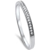 .08ct F VS2 14k White Gold Diamond Wedding Stackable Anniversary Band 6.5
