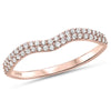 .19ct F SI 14k Rose Gold Diamond Band Ring Size 6.5