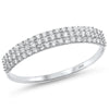 .27ct F SI 14kt White Gold Diamond Band Ring Size 6.5