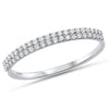 .18ct F SI 14kt White Gold Diamond Band Ring Size 6.5