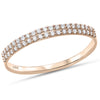 .17ct F SI 14kt Rose Gold Diamond Band Ring Size 6.5