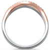 .27ct F SI 14kt Rose, White, Yellow Gold Diamond Band Ring Size 6.5