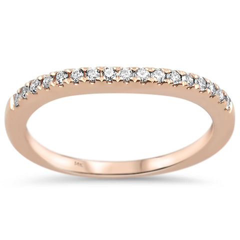 .17ct G SI 14k Rose Gold Diamond Accent Stackable Wedding Band Ring Size 6.5