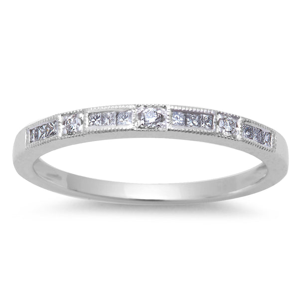 .15ct Round Diamond Wedding Anniversary Band 14kt Solid White Gold Size 6.5
