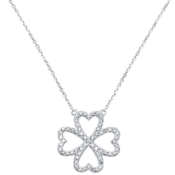 .20ct F SI 14kt White Gold Diamond Flower Pendant Necklace 18