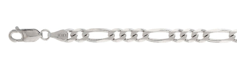150 6MM Figaro Chain .925  Solid Sterling Silver Sizes 7-36