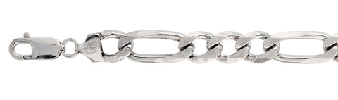 250 10MM Figaro Chain .925  Solid Sterling Silver Sizes 18-36
