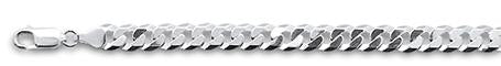 160-7.5MM Flat Curb Chain .925 Solid Sterling Silver Sizes 8-22