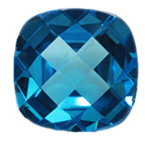 Click to view Square Cushion Cut London Blue Topaz loose Gemstones variation