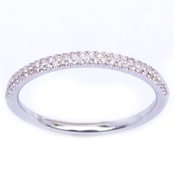 .13ct Pave Set 14kt White Gold E-SI1 Round Diamond Wedding Anniversary Band