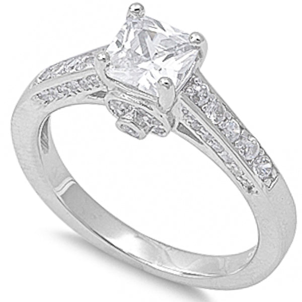 1.5Ct Cz Wedding Ring .925 Sterling Silver Sizes 5-9