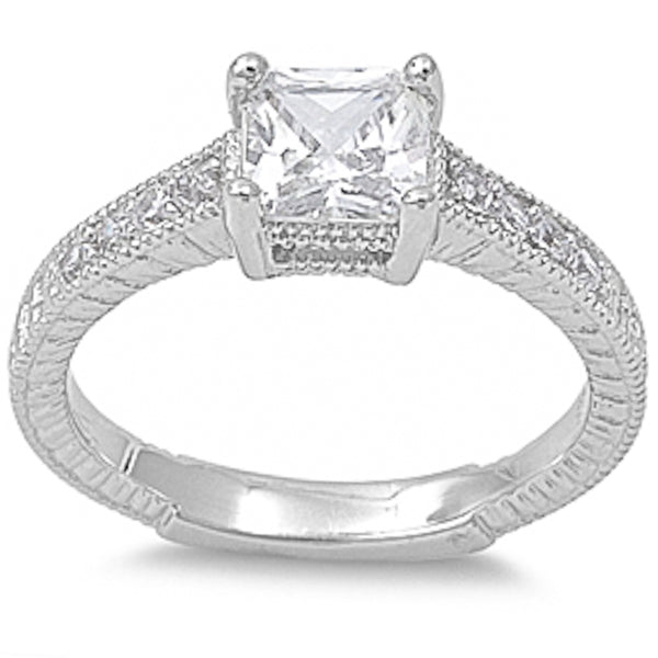 1.5Ct Cz .925 Sterling Silver Ring Sizes 5-9
