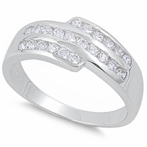 Cubic Zirconia Fashion Ring .925 Sterling Silver Sizes 6-10