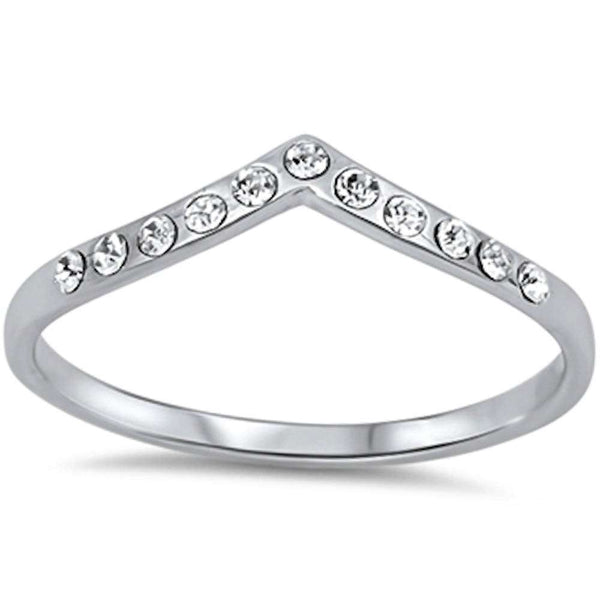 Cz Stackable Band Accent .925 Sterling Silver Ring Sizes 3-10