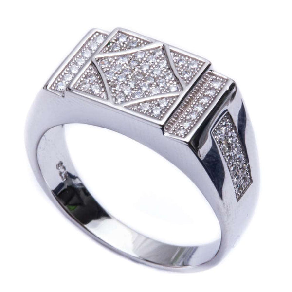 .50ct Men's Pave CZ Hot Fashion .925 Sterling Silver Ring Sizes 8-12