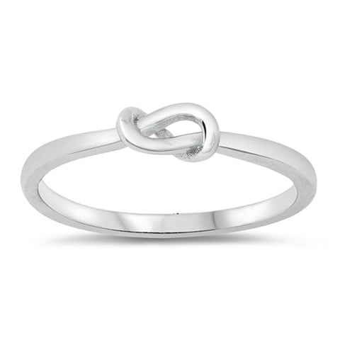 Sterling Silver Silver Infinity Heart Ring sizes 4-10