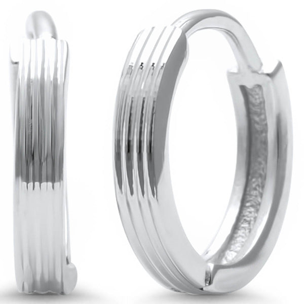 Plain .925 Sterling Silver Hoop Earring