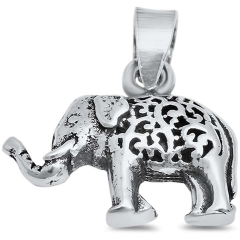 Elephant .925 Sterling Silver Pendant