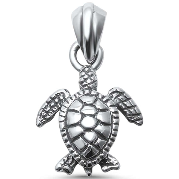 Plain Turtle  .925 Sterling Silver Pendant