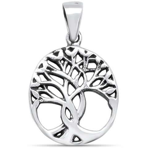 Plain Tree of Life Charm .925 Sterling Silver Pendant