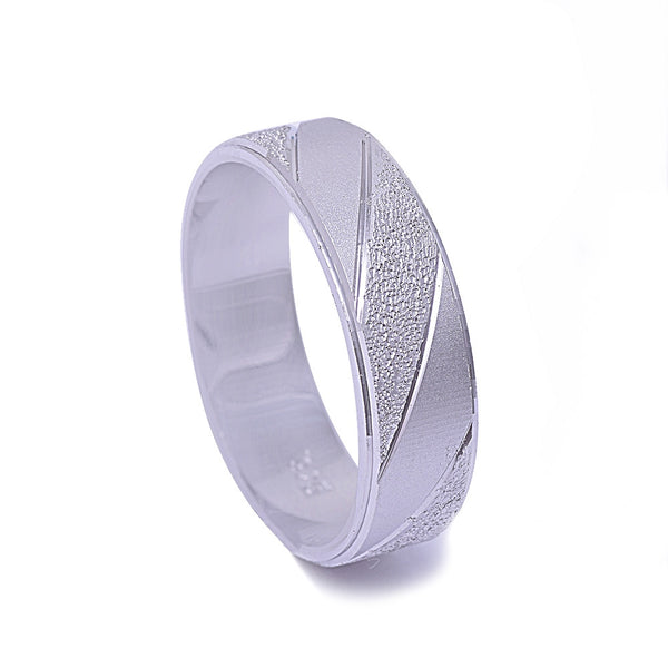Men's Brush Finished Fashion Band .925 Sterling Silver Ring Sizes 9-11