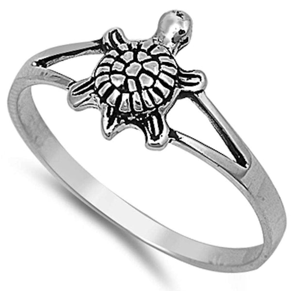Plain Turtle .925 Sterling Silver Ring Sizes 2-12