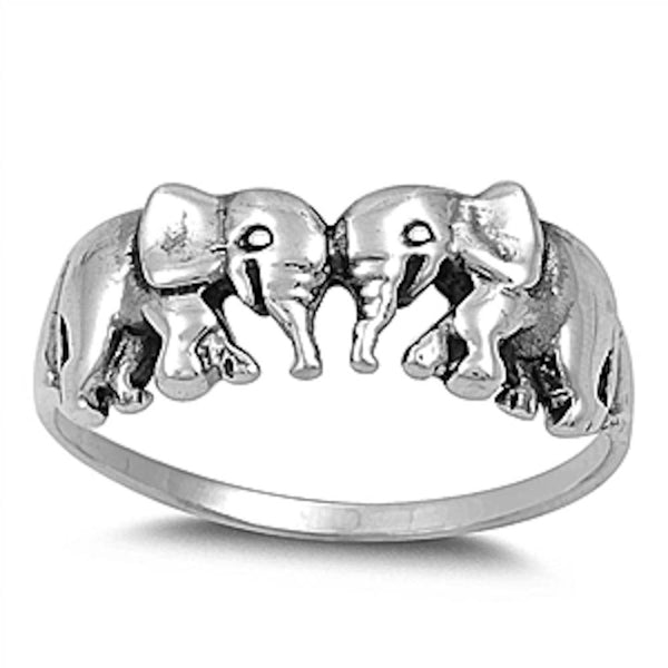 Plain elephant band .925 Sterling Silver Ring Sizes 4-12