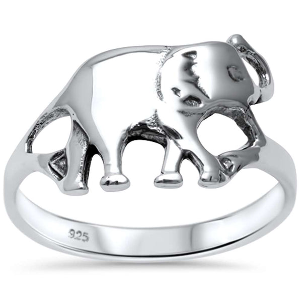 Cute! Plain Elephant  .925 Sterling Silver Ring Sizes 5-8