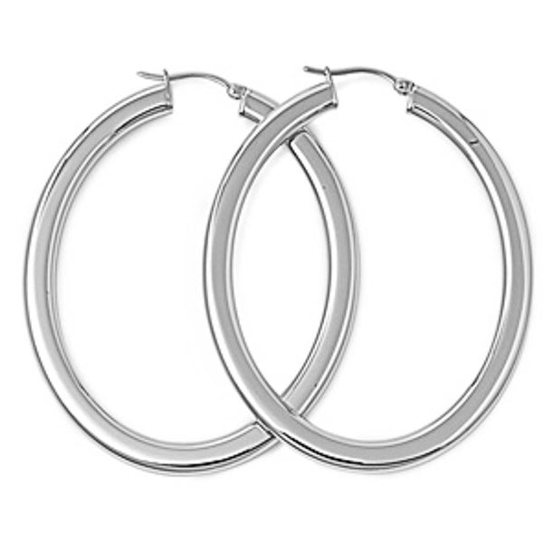 Oval Hoop Stainless Steel Earring