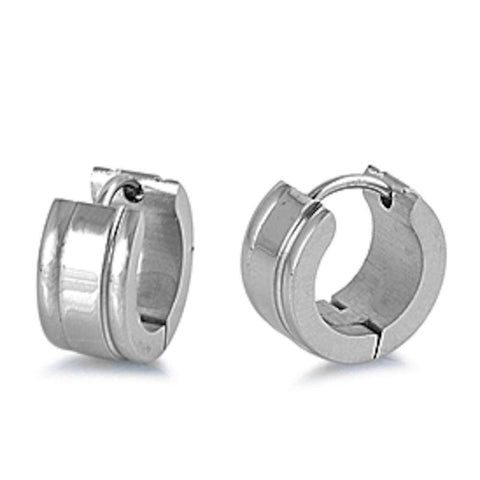 Huggie Hoop 316L Stainless Steel Earrings