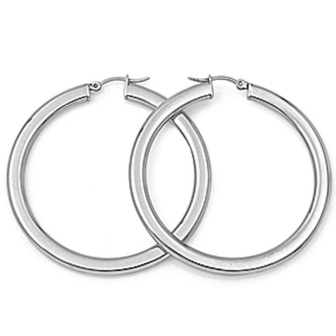 Round Hoop 316L Stainless Steel Earrings
