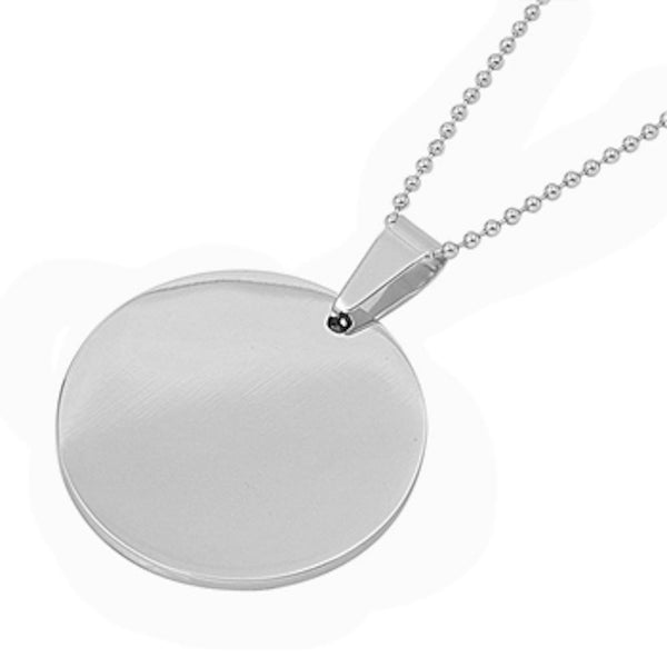 Stainless Steel Solid Circle Necklace