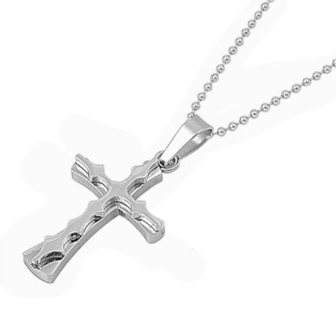 Stainless Steel Solid Cross Necklace