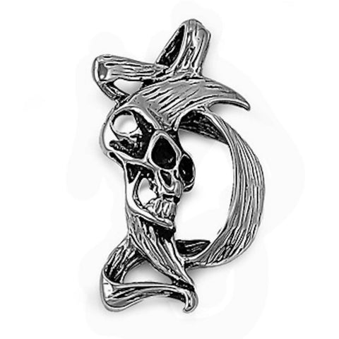 Stainless Steel Skull in Abstract Pendant