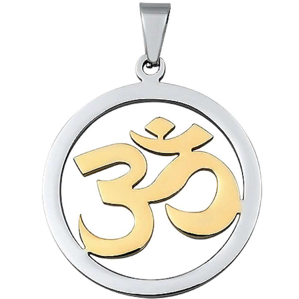 Two Tone Om Sign Stainless Steel Pendant