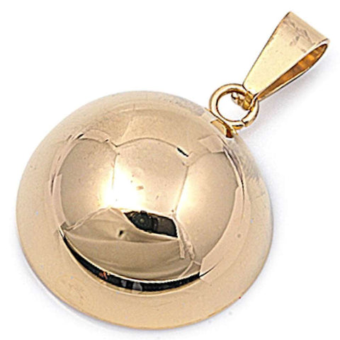 Yellow Gold Plated Half Ball Stainless Steel Pendant