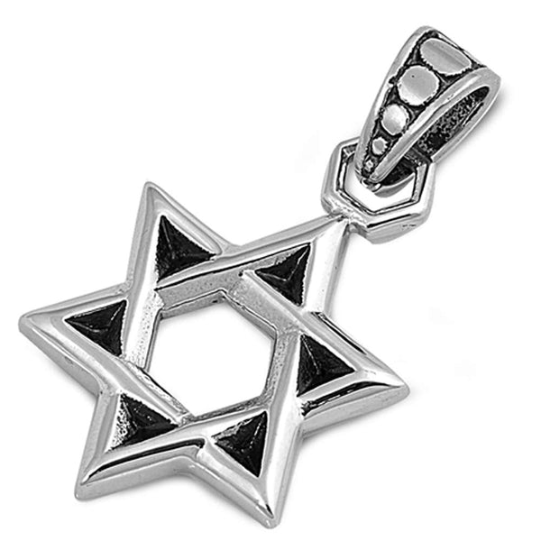 Star of David 316 Stainless Steel Pendant Necklace