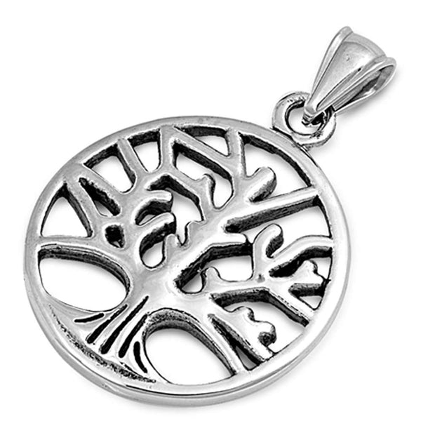 Stainless Tree of Life Design  316 Stainless Steel Pendant Necklace