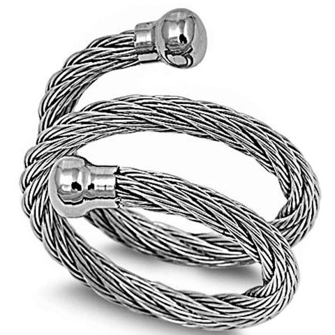 Twisted Rope Stainless Steel 316L Ring Sizes 7-14