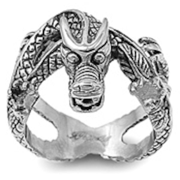 Stainless Steel Huge Dragon Ring Sizes 7-15