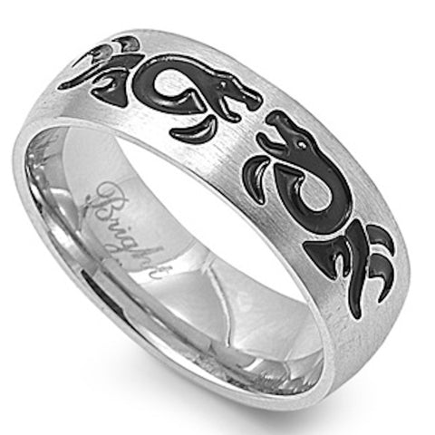 Stainless Steel Tribal Design Ring Sizes 9-14