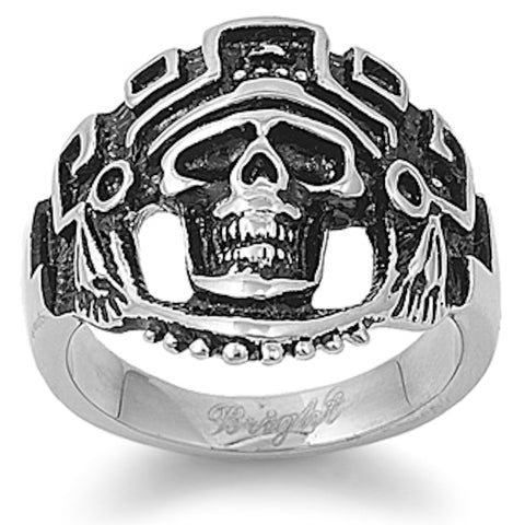 Tribe Skull Stainless Steel Ring Sizes 9-15