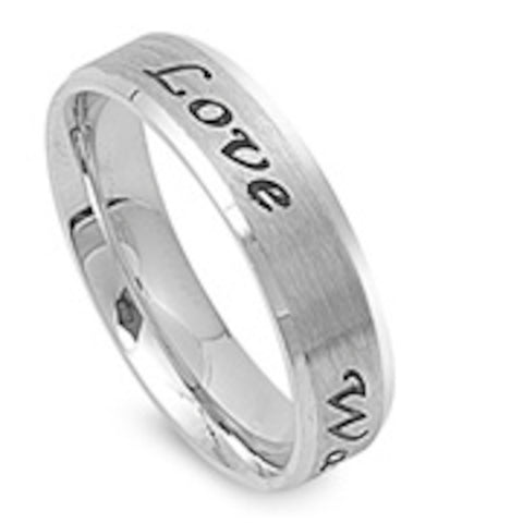 True Love Waits Stainless Steel Ring Sizes 5-14