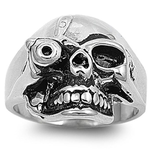The Terminator Skull Stainless Steel Ring Sizes 9-15