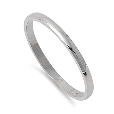 Plain 2mm Stainless Steel Wedding Band Ring Sizes 3-12