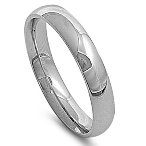 Men's Comfort Fit 5mm Stainless Steel Ring Sizes 5-15