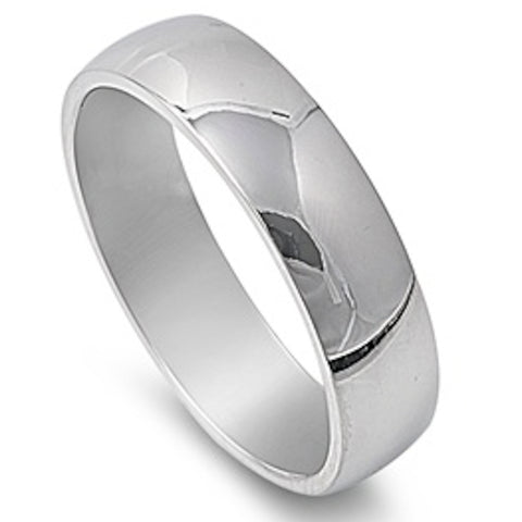 Men's Comfort Fit 6mm Stainless Steel Ring Sizes 5-15