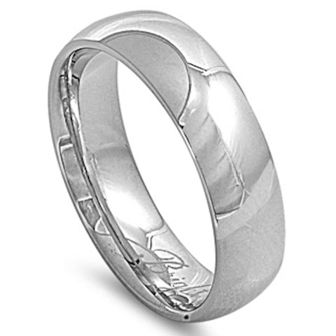 Men's Comfort Fit 7mm Stainless Steel Ring Sizes 6-15