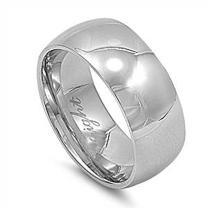 Plain 9mm Band Stainless Steel Ring Sizes 6-15